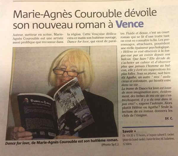 Photo  du livre: Dance for love  par Marie-Agnès Courouble