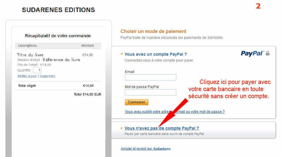 Sudarenes editions pr sentation et vente de livres et ouvrages paiement s c - Paiement paypal frais ...