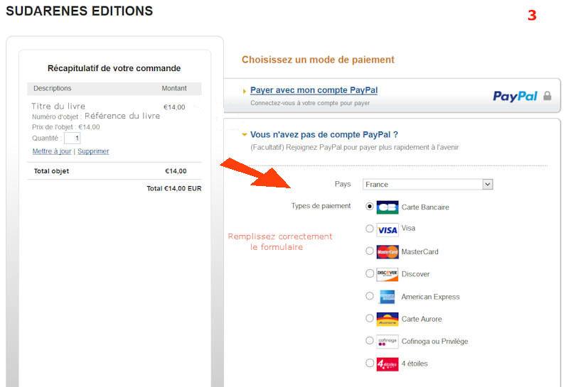 Sudarenes editions pr sentation et vente de livres et ouvrages paiement s c - Paiement dans 3 mois par carte bancaire ...