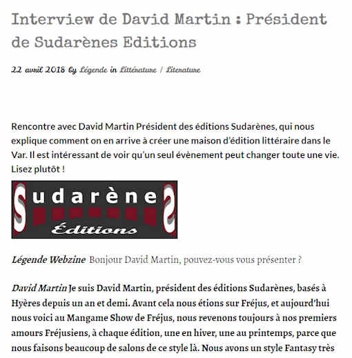 Interview de David Martin