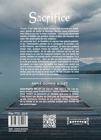 Photo verso du livre: Sacrifice par Anne-Sophie BILLET