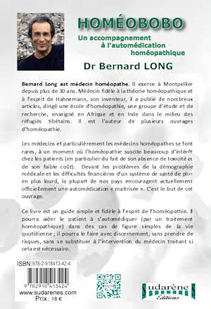 Photo dos du livre: Homéobobo par le Dr Bernard Long