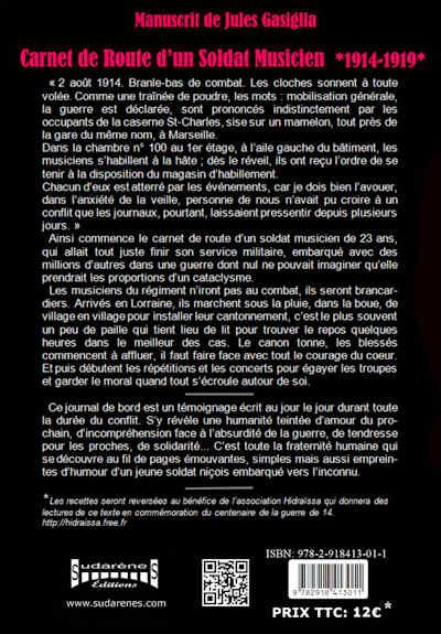 Sudarenes editions editeur du livre carnet de roure d 39 un soldat musicien 1914 1919 et gunnar - Les meilleurs positions pour faire l amour au lit ...